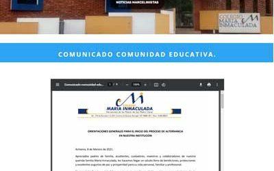 Comunicado Comunidad Educativa.