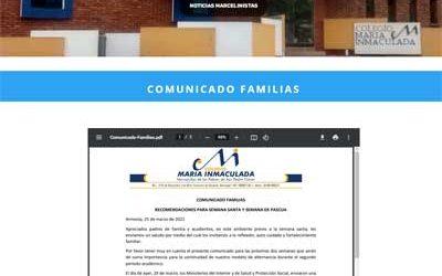Comunicado Familias